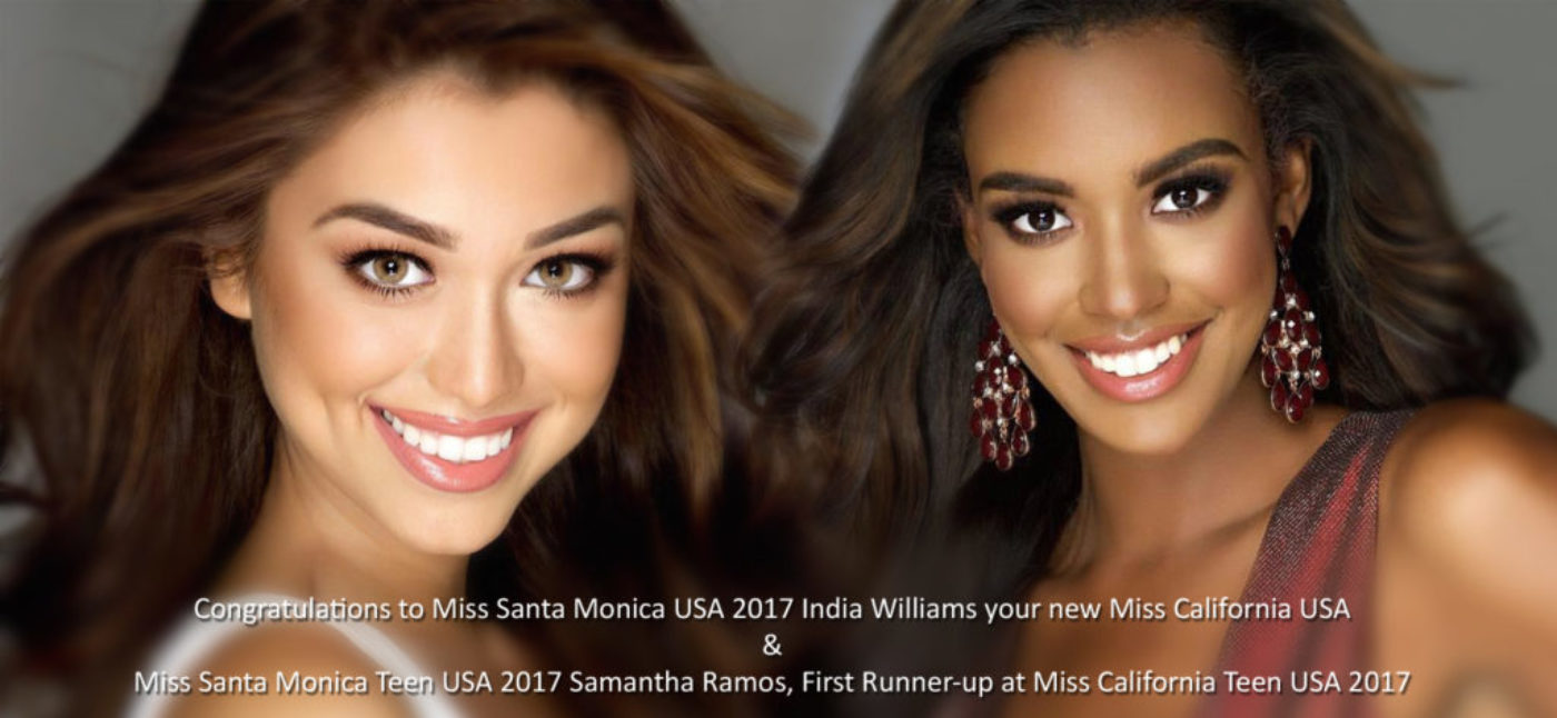 India Williams & Samantha Ramos Miss Santa Monica